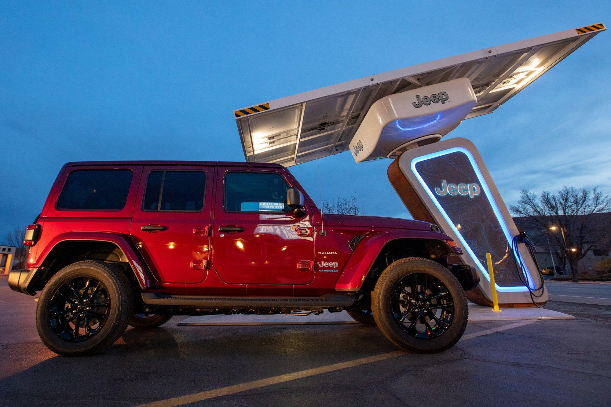 Jeep estaciones de carga