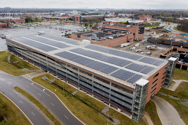 DTE Energy Ford panel solar
