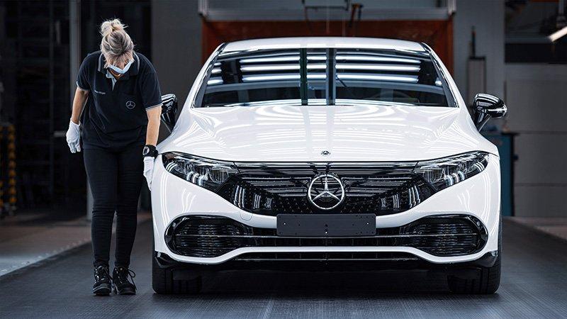 Mercedes EQS produccion