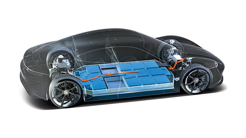 Porsche celdas baterias